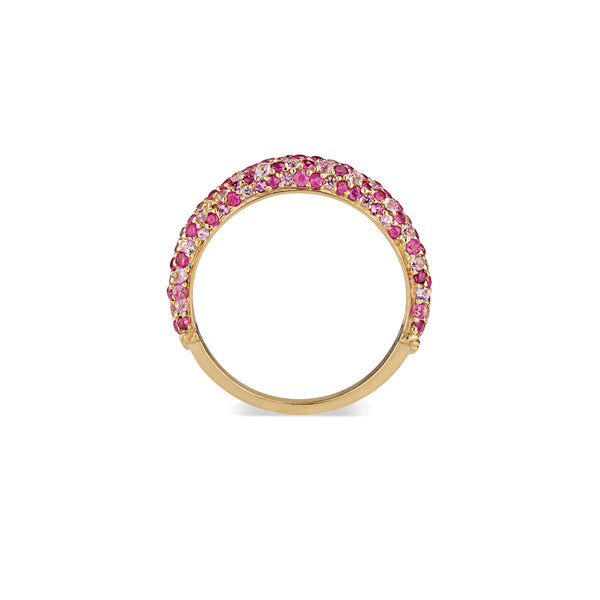Treasure Slice Ring with Pink Sapphire & Ruby