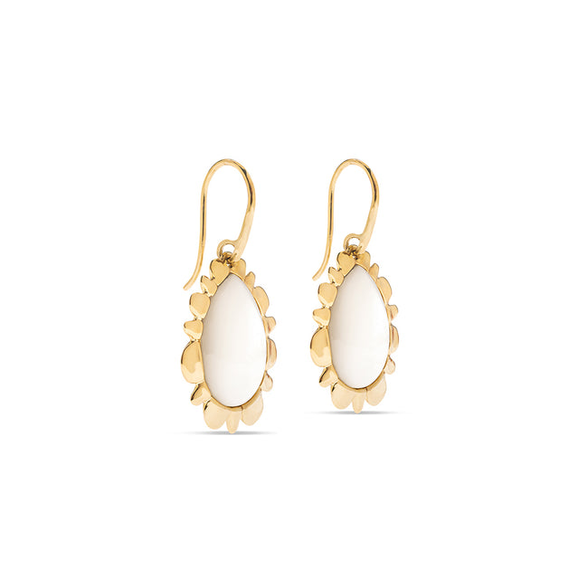 Bliss Drop Earrings, Mother of Pearl