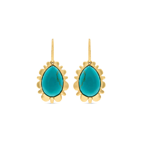 Bliss Drop Earrings, Turquoise