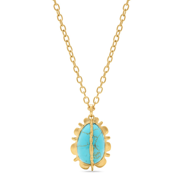 Bliss Pendant, Turquoise