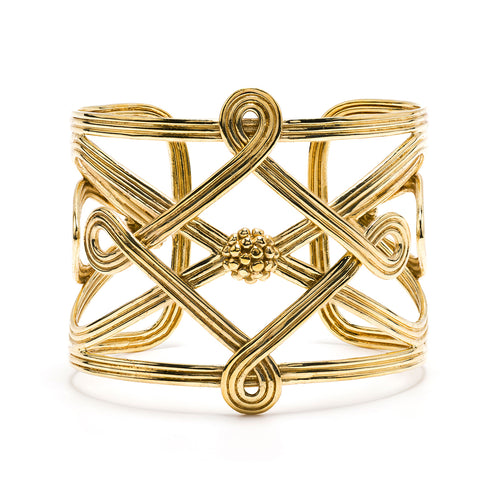 Monique Compass Cuff, Gold