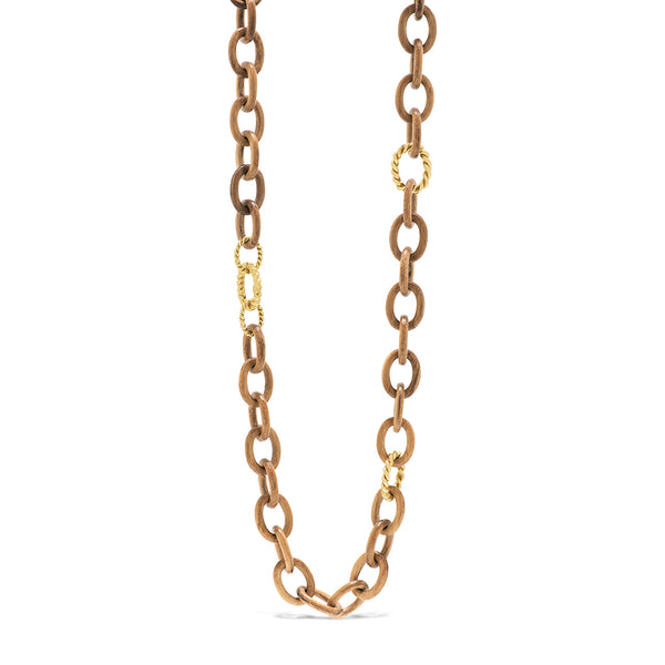 Earth Goddess Chain Necklace, Teak