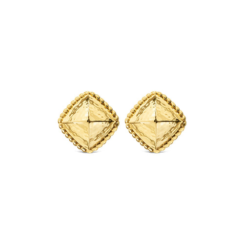 Blandine Clip Earrings, Gold