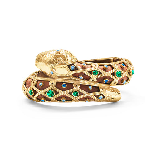 Serpentina Hinged Bangle, Jeweled