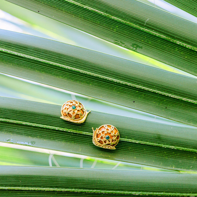 Sarita Snail Earrings