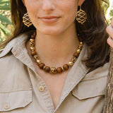 Elizabetta Earrings, Teak