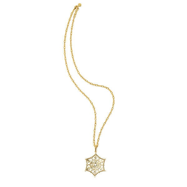 "Snowflake Pendant with 24"" Capucine Chain"