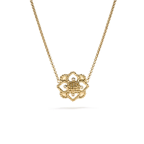 Daisy Charm Necklace, Gold