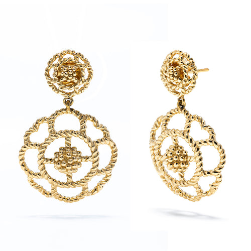 Capucine Double Earrings, Gold