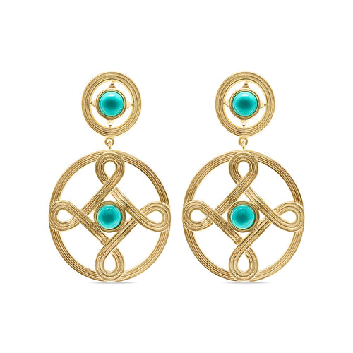Monique Double Earrings, Turquoise