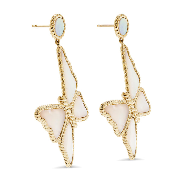 Grand Butterfly Earrings, Mother of Pearl