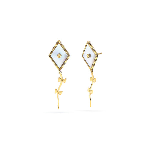Petite Kite Earrings, Mother of Pearl