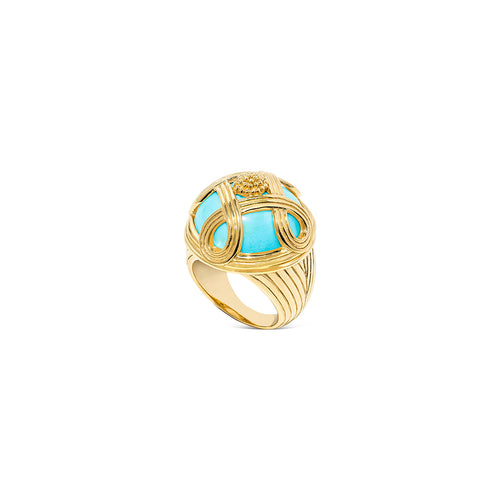 Monique Cocktail Ring, Turquoise
