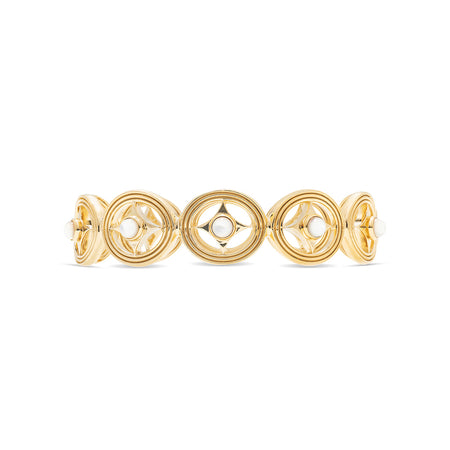 Monique Compass Hinged Bangle, Mother of Pearl