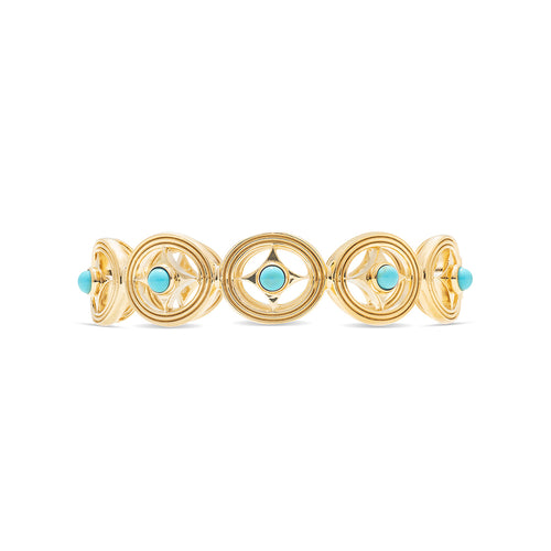 Monique Hinged Bangle, Turquoise