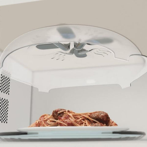"""Microwave Cap"" Magnetic Anti Splatter Microwavable Food Cover"