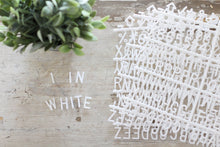1 inch White Letter Set - 402 Pieces - Mcleod Letter Co.