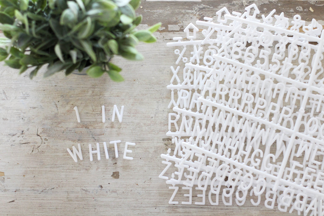 1 inch White Letter Set - Mcleod Letter Co.