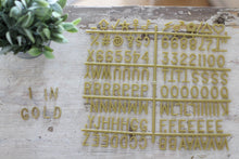 1 inch Gold Letter Set - Mcleod Letter Co.