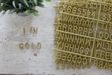 1 inch Gold Letter Set - 402 Pieces - Mcleod Letter Co.