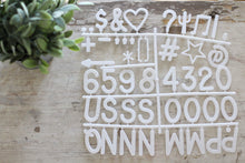 "2"" White Letter Set - 186 Pieces - Mcleod Letter Co."