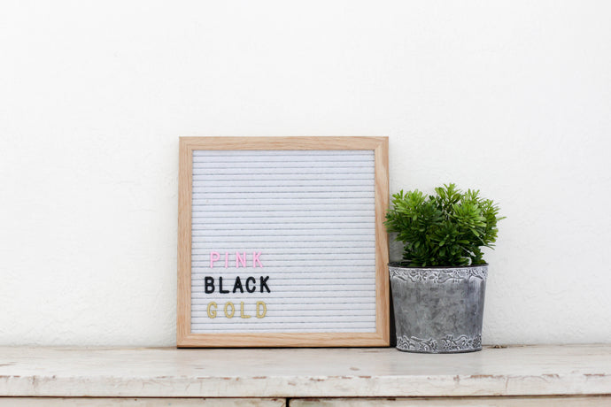 10x10 White Felt Letter Board - Mcleod Letter Co.