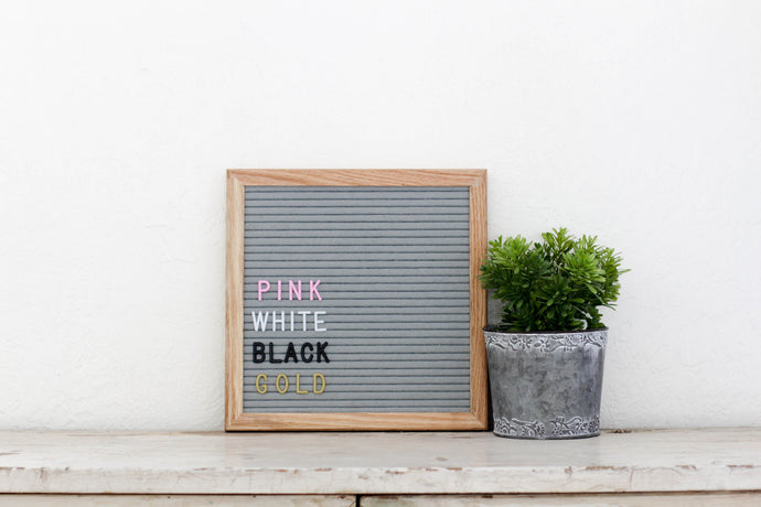 10x10 Gray Felt Letter Board - Mcleod Letter Co.