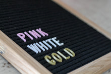 10x10 Black Felt Board with 3/4 in white letter set - Mcleod Letter Co.