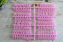 3/4 inch Pink Letter Set - Mcleod Letter Co.