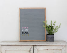 16x20 Gray Felt Letter Board - Mcleod Letter Co.