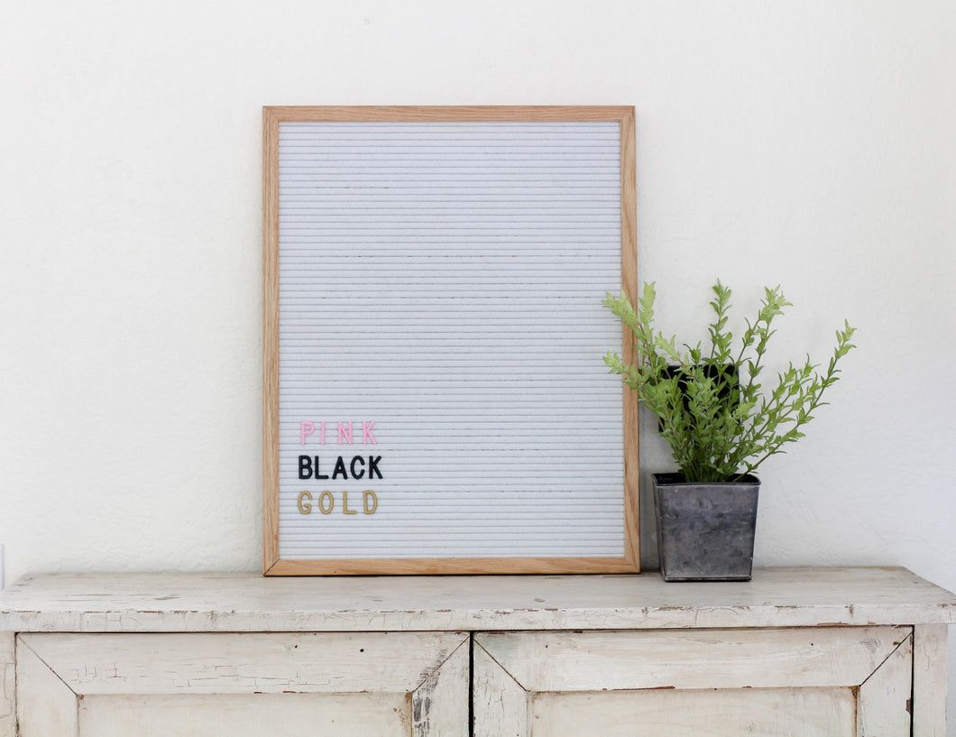 16x20 White Felt Letter Board - Mcleod Letter Co.