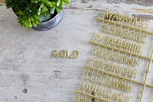 3/4 inch Gold Letter Set - Mcleod Letter Co.