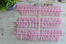 1 inch Pink Letter Set- 342 Pieces - Mcleod Letter Co.