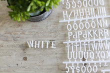 3/4 inch White Letter Set - Mcleod Letter Co.