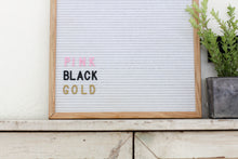 16x20 White Felt Board with 1 in black letter set - 342 Pieces - Mcleod Letter Co.