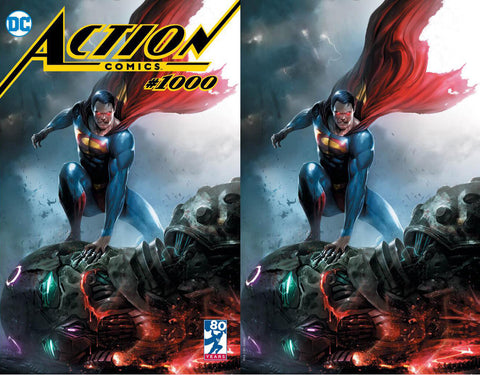 Action Comics 1000 Francesco Mattina Variant Trade Virgin Set Golden Apple Comics