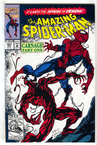 Amazing Spider-Man 361 1st Appearance Carnage Venom For Sale Golden Apple Comics