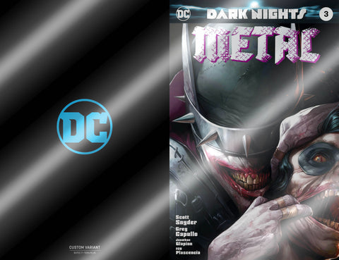 Dark Nights Metal 3 Francesco Mattina Foil Variant Batman Who Laughs Golden Apple Comics
