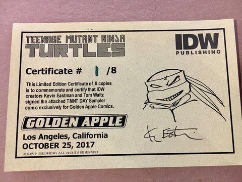 TMNT Day Signed Kevin Eastman COA