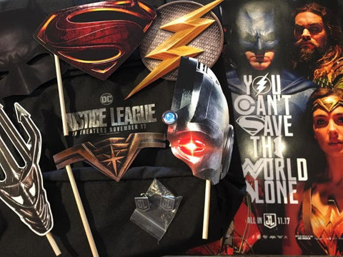 Justice League Swag Golden Apple Comics Red Carpet Premiere Movie Ticket Giveaway