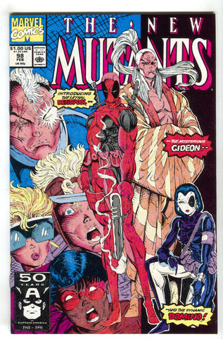New Mutants 98 Marvel 1st Appearance Deadpool Domino Movie Cable