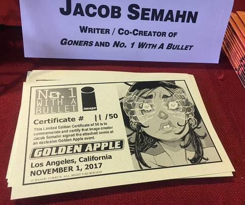 No 1 With A Bullet Jacob Semahn Golden Apple Comics Signing COA