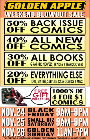 Golden Apple Comics Thanksgiving Black Friday Sale