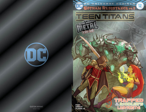 Teen Titans 12 Foil Variant Dark Nights Metal 1st Batman Who Laughs Golden Apple Comics