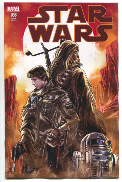 Star Wars 38 Marvel 2017 Marco Checchetto Variant Han Solo Chewbacca R2-D2