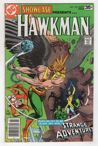 Showcase 102 DC 1978 VF Hawkman Adam Strange Adventures Joe Kubert