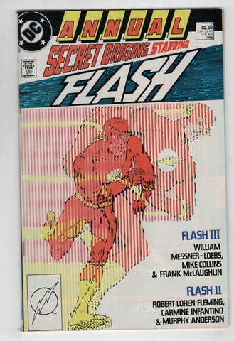 Secret Origins Annual 2 DC 1987 NM Flash Crisis On Infinite Earths