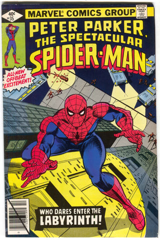 Spectacular Spider-Man 35 Marvel 1979 FN VF Police Spotlight
