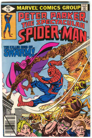 Spectacular Spider-Man 36 Marvel 1979 FN VF Swarm Bees Lizard