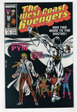 West Coast Avengers 21 Marvel 1987 NM Hawkeye Iron Man Moon Knight